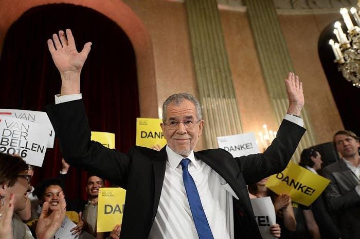 Austria's new president, Alexander Van der Bellen.
