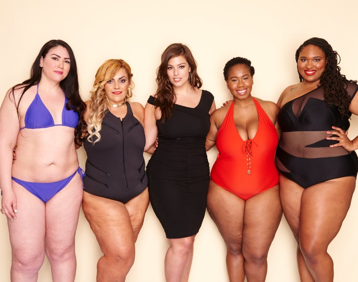 From left to right, these bloggers test drove the bathing suits: • Nazira Sacasa on Instagram at @Nazirasacasa• Dana Martinez of the blog Who's That Girl Dana?• Kelly Augustine of the blog Kelly Augustine• Shainna Tucker of the blog A Thick Girl's Closet