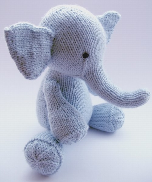 This too-cute-for-words stuffed elephant.