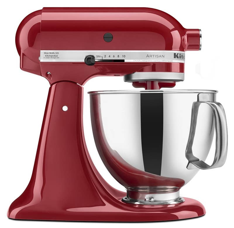 """A KitchenAid stand mixer is the gold standard of baking appliances. It's definitely the most expensive thing in my kitchen by far; but my mom has had hers since she got married over 40 years ago, so I know it will last forever.""— Tonya J G Ross, Facebook""It's about KitchenAid's motor. A knockoff won't knead bread dough for 20 minutes at a time year after year without burning out.""— amandas4dd41813cGet one for $268.99. Other suggestions for stand mixers include Breville, Cuisinart, and Sunbeam."