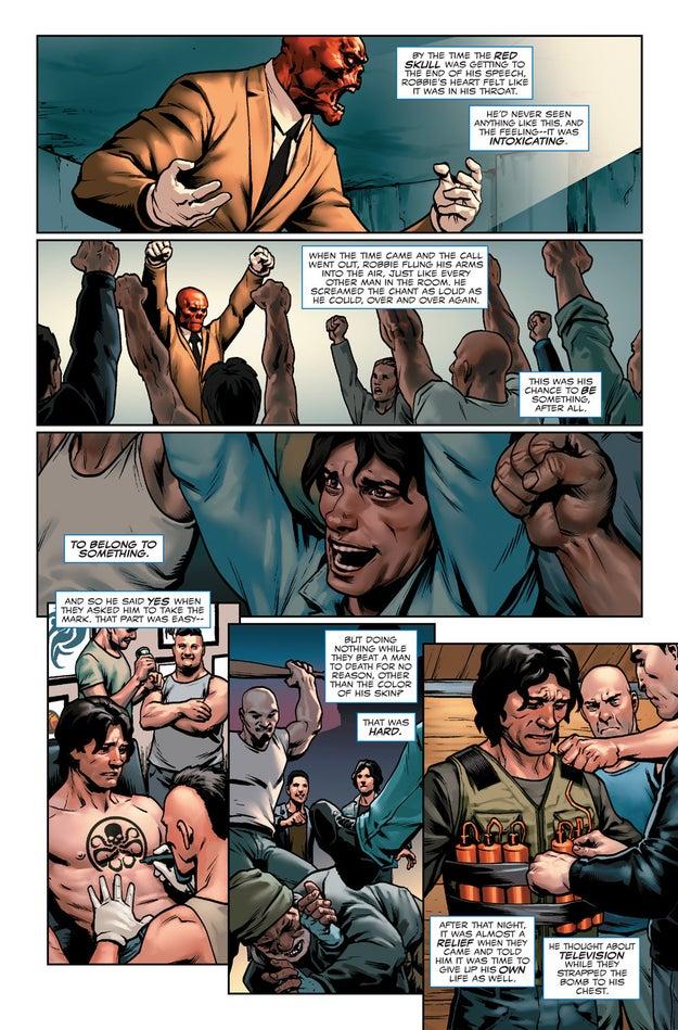 Nel Steve Rogers # 1, viene rivelato che Steve è stato reclutato da Hydra quando era un ragazzino.  E che sta ancora lavorando con loro.  Si tratta di una decisione controversa, per non dire altro - specialmente dato che Hydra è un'organizzazione con forti legami nazisti.