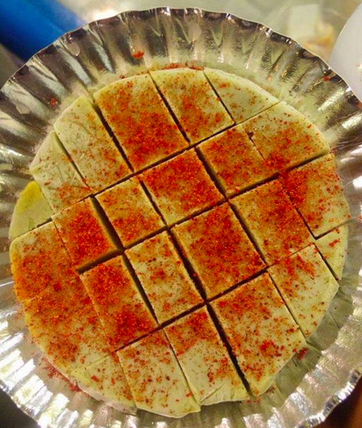 Guava kulfi with salt and chilli powder at Bombay Kulfi.