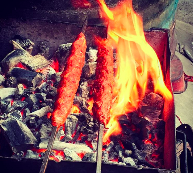 Kebabs at Mannady Kabab Centre in Georgetown.