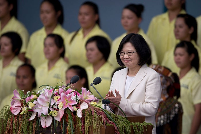 """Tsai, 59, was sworn into office last Friday as the first female president of Taiwan. A self-made politician and former law professor, with a doctorate from London School of Economics and a master's from Cornell University, she's already annoyed Beijing. In her inauguration speech, she neglected to specify whether she thinks Taiwan is part of China. (Unlike the former ruling party, the Kuomintang, who lost the mainland and fled to Taiwan in 1949, Tsai's Democratic Progressive Party (DPP) doesn't have a history with the Communists and is pro-independence.)Her almost perfect resumé means her personal life has become the main target of criticism. Tuesday's op-ed, penned by a military analyst from the PLA military academy, called Tsai """"a complicated person who grew up in the abnormal Taiwan society and political ecosystem."""""""