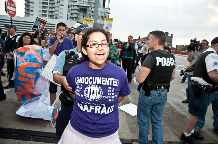 Nadia Sol Ireri Unzueta Carrasco was arrested at a 2011 protest against the Secure Communities, a deportation program that relied on federal, state, and local police departments working together.