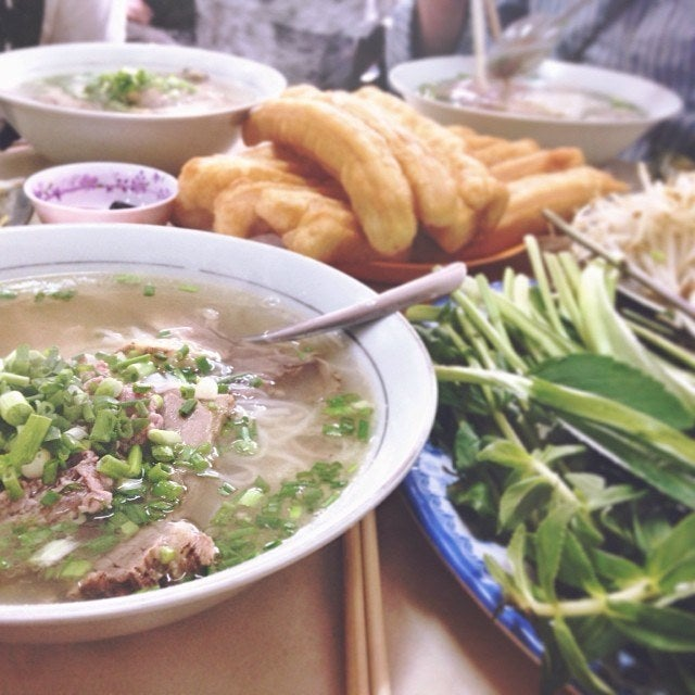 Lunch at Phở Hoa, in Ho Chi Minh City.