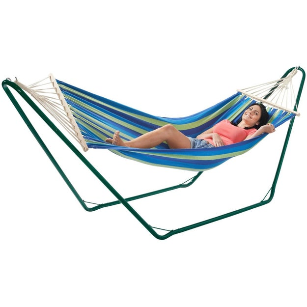 This dreamy stand-alone hammock  (£39.99)
