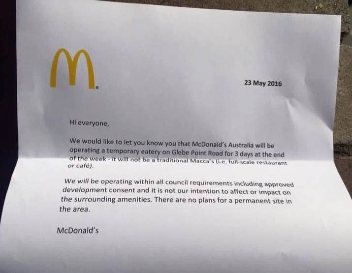 McDonalds Opened A PopUp Store And People Lost Their Damn Minds – Parents Consent Letter for Work