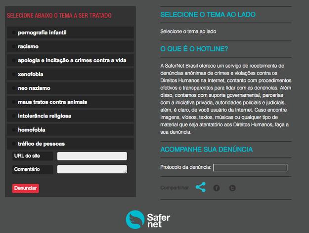Acesse o site da SaferNet e também faça uma denúncia por lá; leva pouquíssimo tempo.