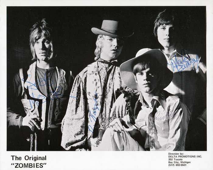 "The Original ""Zombies,"" from left: Seab Meador, Dusty Hill, Frank Beard, Mark Ramsey"