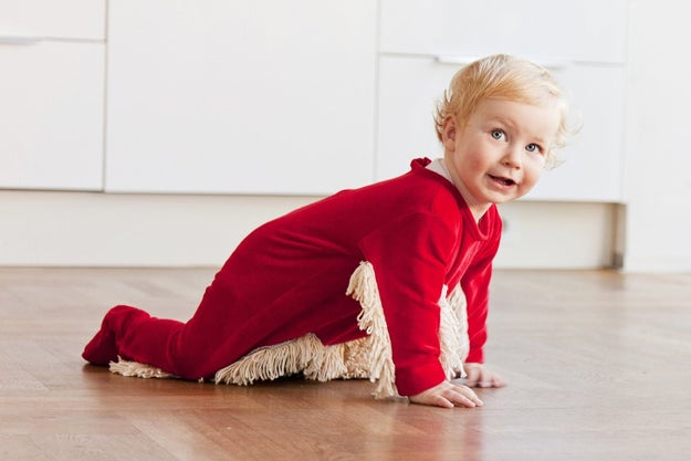 A onesie mop that'll start your kid off doing chores early.