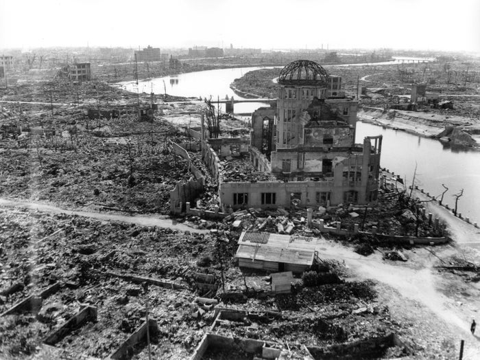 Hiroshima after the atomic bombing on August 6, 1945.