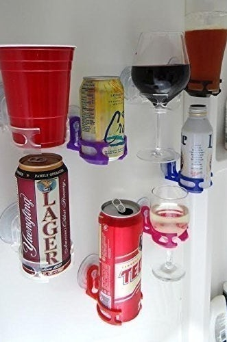Holds the cans or glasses of your choice.