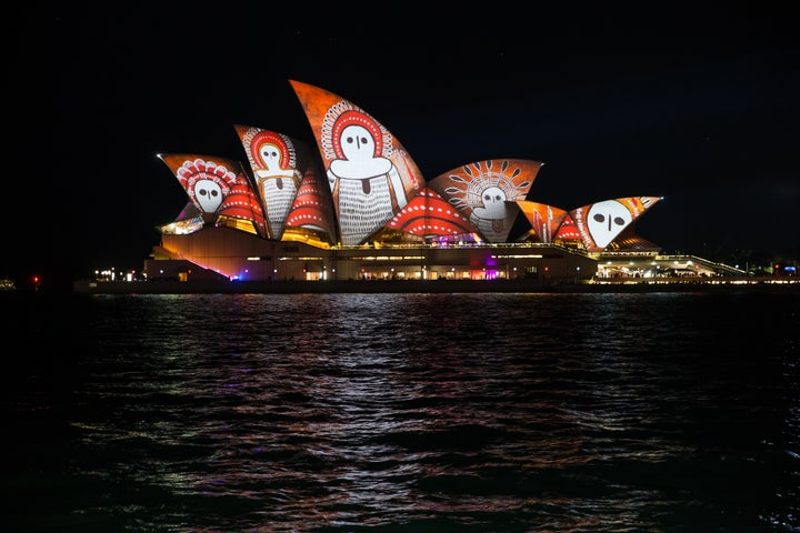 These Photos Of The Sydney Opera House Covered In Aboriginal Designs Will Take Your Breath Away