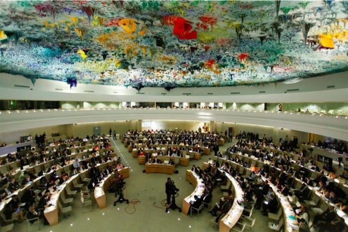 A meeting of the UN Human Rights Council in 2012.