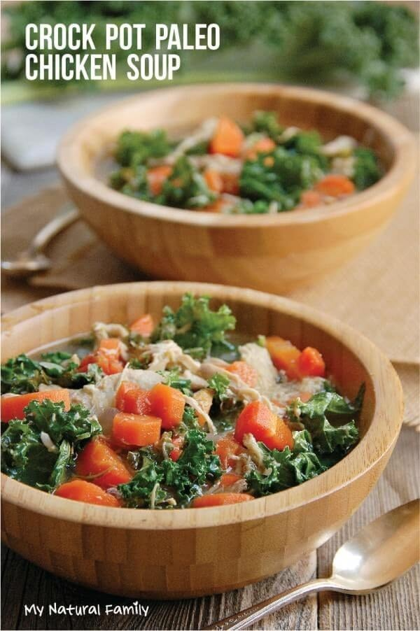 With fresh kale and carrots. Recipe here.