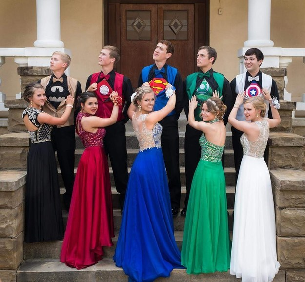 VIRAL: Coordinated Superhero Prom Outfits