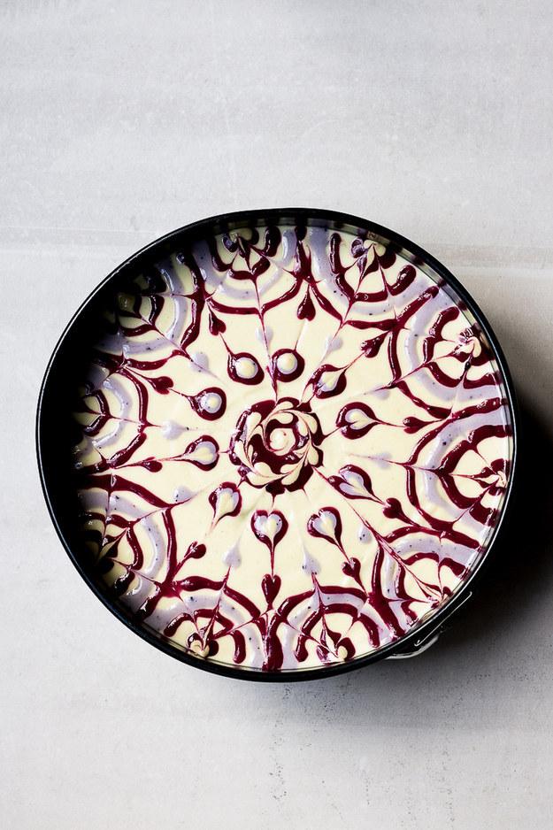 Raw Passionfruit Swirl Cake
