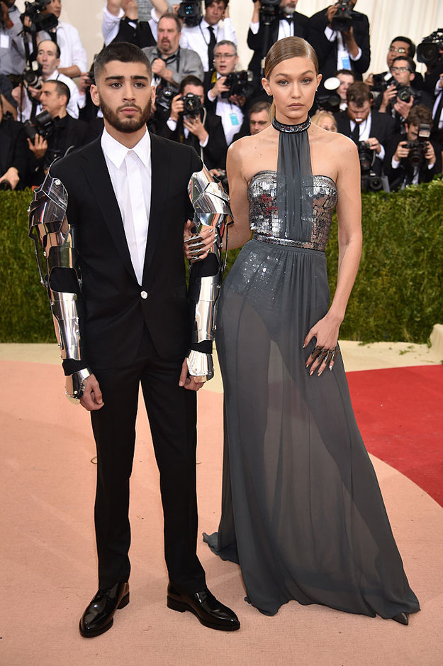 Here's Zayn Malik and Gigi Hadid making their red carpet debut as a couple at Monday night's Met Gala.