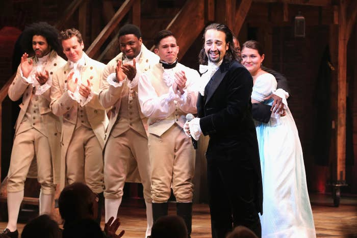 Lin-Manuel Miranda at Hamilton on its opening night at the Richard Rodgers Theatre on Aug. 6, 2015, in New York City.