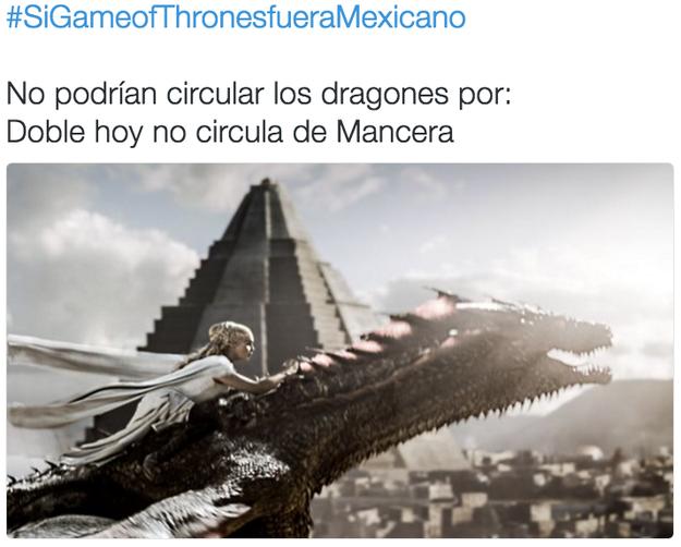 """Hoy no circulan dragones con escamas verde y azul, o con terminación """"on"""" en su nombre."""