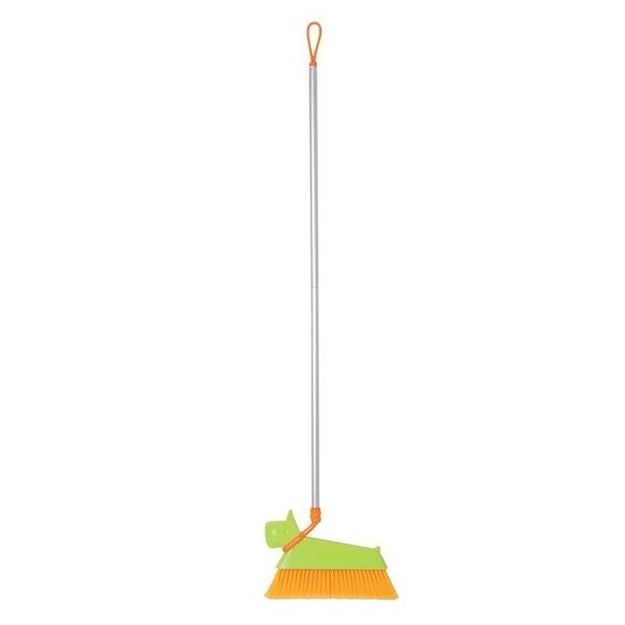 A dog broom you can take on a walk...around your dirty house.