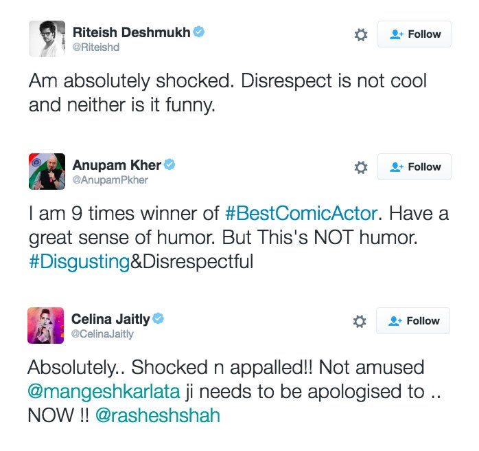 Following tweets from Anupam Kher and Riteish Deshmukh, the video gained a wider audience and came under fire from their followers.