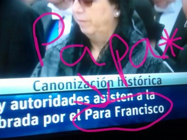 Cuando se hicieron eco de una canonización celebrada POR Y PARA Francisco (el cantante).
