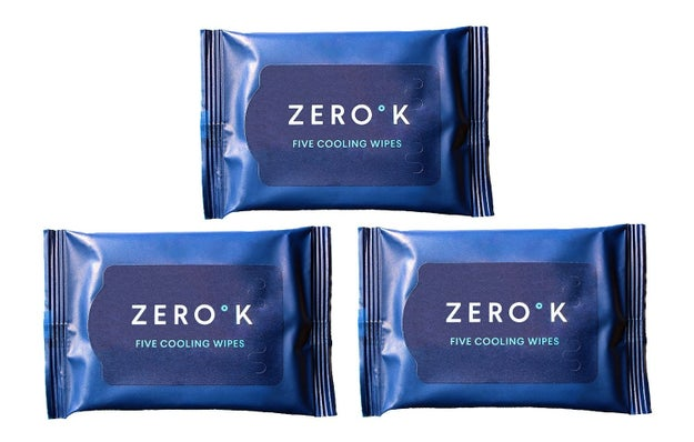 Refreshing menthol-based wipes you can take on the go.