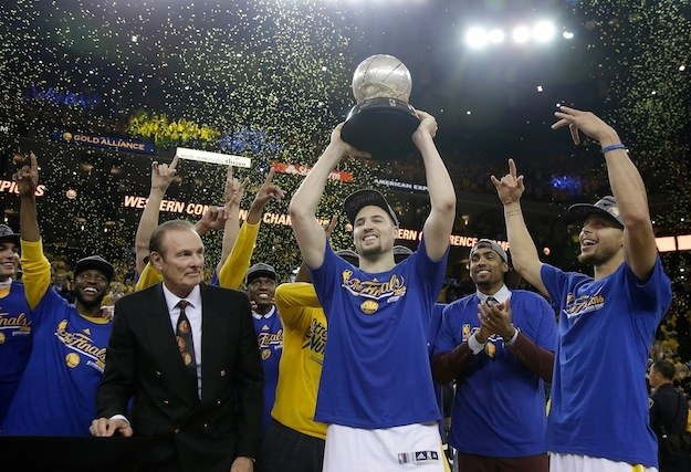 Last night, the Golden State Warriors beat the Oklahoma City Thunder, 96-88, in the NBA Conference Finals.
