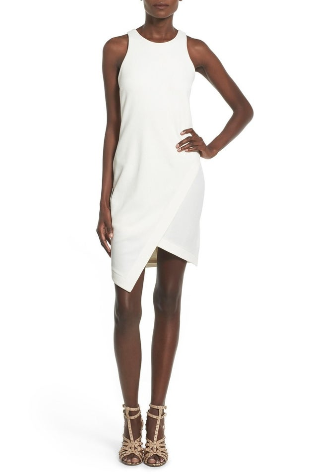 Leith Stretch Crepe Tank Dress