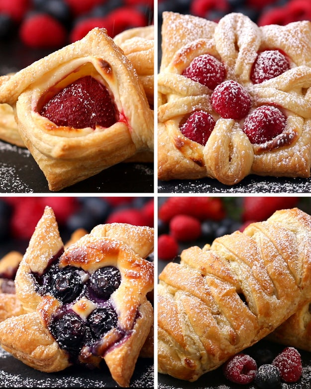 here are four ways to make incredibly beautiful desserts with puff pastry. Black Bedroom Furniture Sets. Home Design Ideas