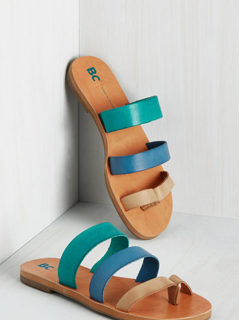 BC Footwear Zing in Your Step Sandal in Seaside, $49.99