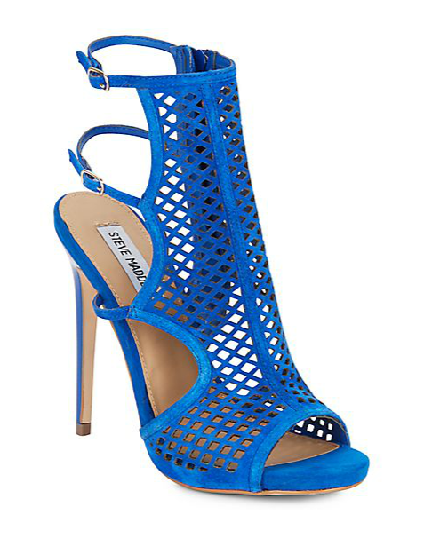 Steve Madden Marleen Perforated Suede Sandals, $49.99