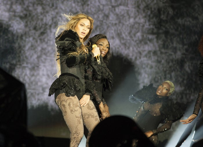 Beyonce in Raleigh, North Carolina, on Tuesday.