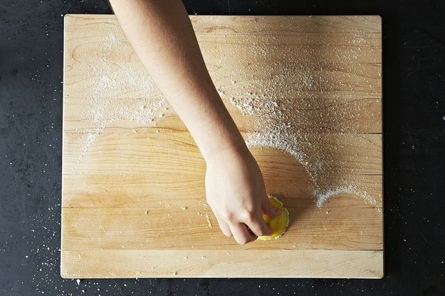 Use a lemon and kosher salt to scrub your wooden cutting boards and butcher blocks.