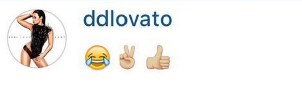 But then things seemed to get messy, with Demi commenting on the photo with these seemingly sarcastic emojis.
