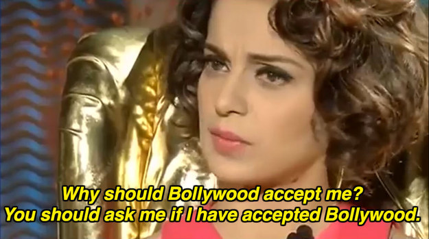 On Bollywood accepting her: