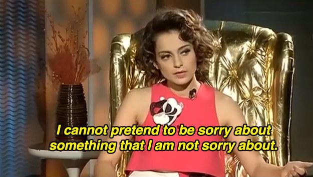 On apologies: