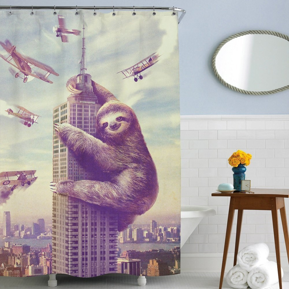 12 you know you want a slothzilla staring at you while you pee