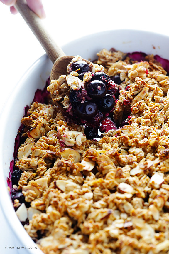 Easy Blueberry Crisp