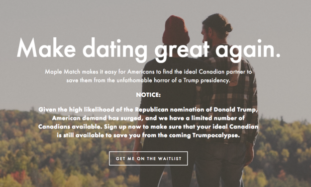 Dating Site Sets Up Anti-Trump Americans With Canadian Mates