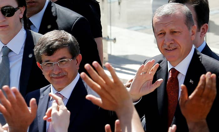 Davutoglu and Erdogan in Ankara on Wednesday.