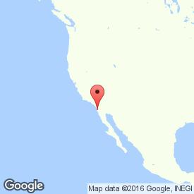 Map of Tijuana, Mexico