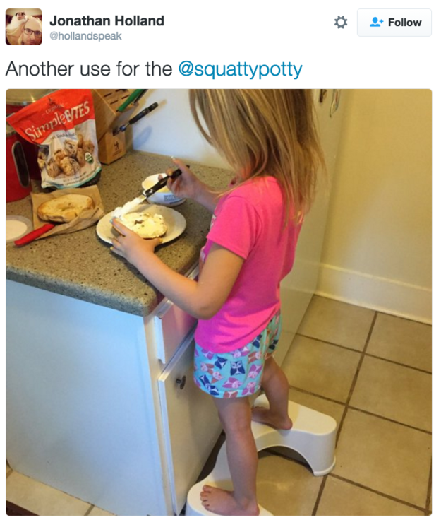 Your squatty potty gives you comfort and you always want to use it. For everything.