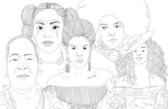 i instantly envisioned it in my mind as a coloring narrative - Beyonce Coloring Book
