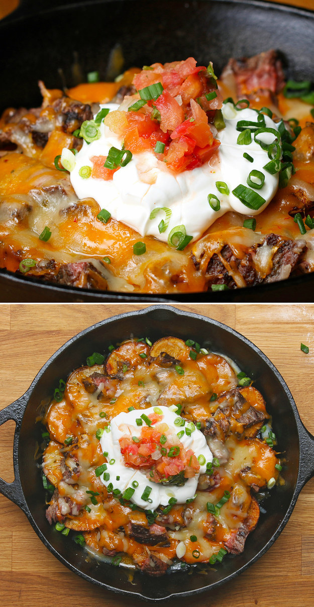 Steak And Potato Nachos
