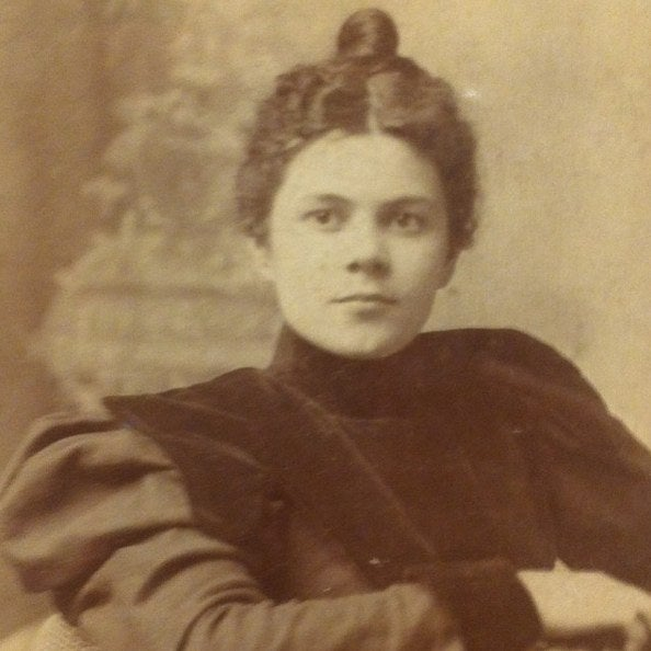 My great-grandmother Dessie Dean Ramsey Stubblefield on her wedding day in 1899.
