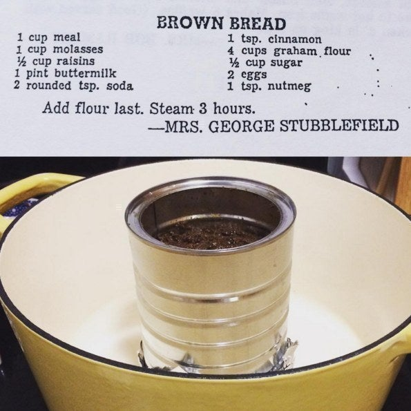 Her recipe for brown bread.