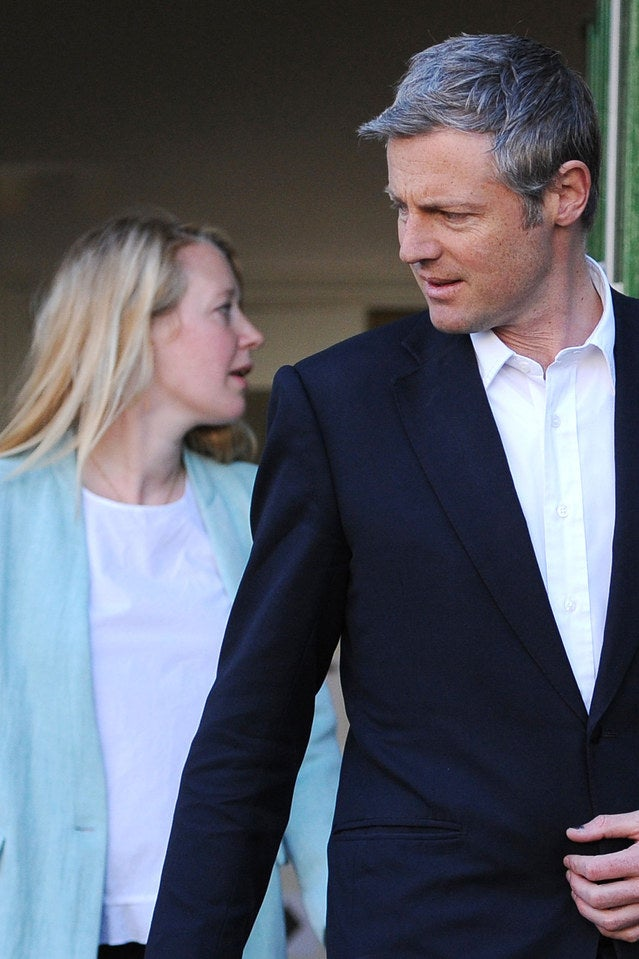 Tory mayoral candidate Zac Goldsmith and his wife Alice.